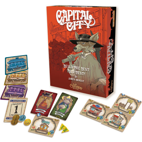 Capital City board game box and cards
