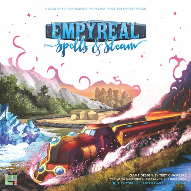 Empyreal: Spells and Steam board game box art