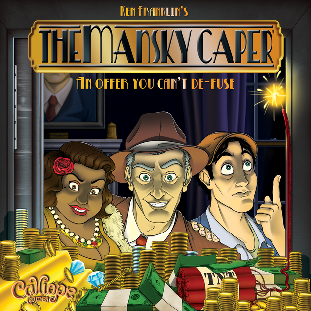 The Mansky Caper board the game box art